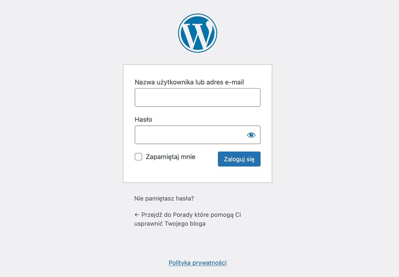wordpress zaloguj